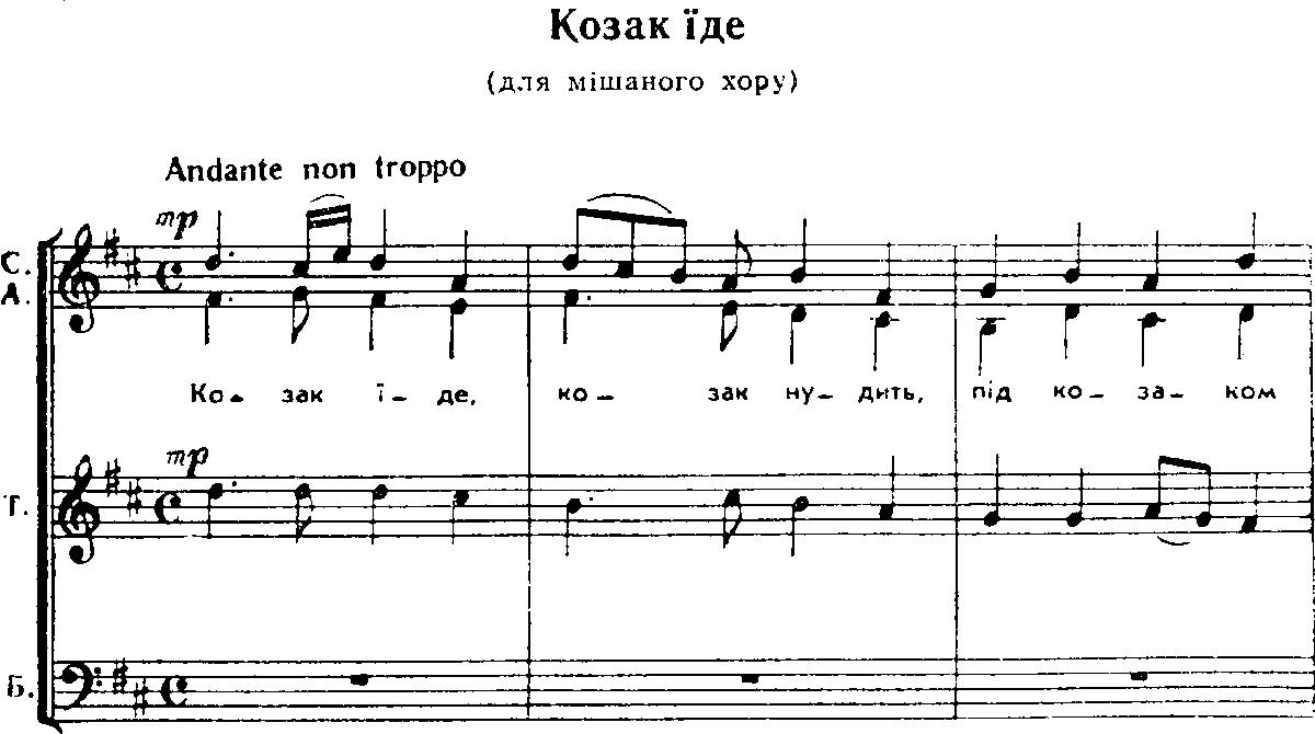 Українська народна пісня козак їде
