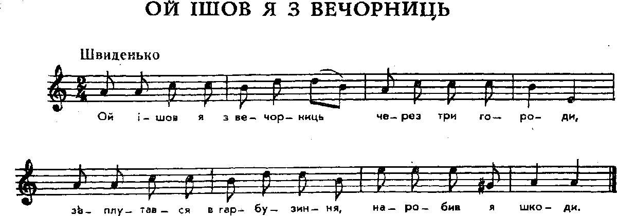 Українська народна пісня ой ішов я з