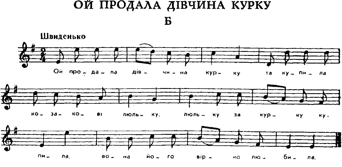 Українська народна пісня ой продала